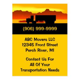 PC för affär för transport för Movers för Vykort