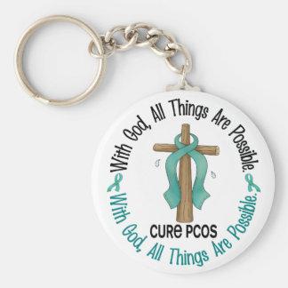 PCOS med gudkor Rund Nyckelring