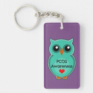 PCOS-medvetenhetuggla Keychain