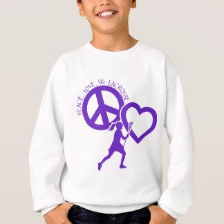 PEACE-LOVE-LACROSSE TEE