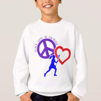PEACE-LOVE-LACROSSE TEE SHIRT