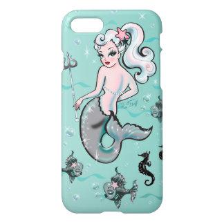Pearla sjöjungfru tittar tillbaka iPhone 7 skal