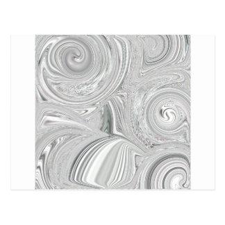 Pearly virvla runt designen vykort