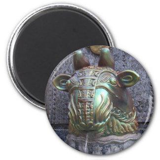 Pecs - keramisk art nouveautjurfontän magnet