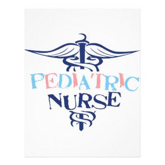 Pediatrisk sjuksköterska brevhuvud