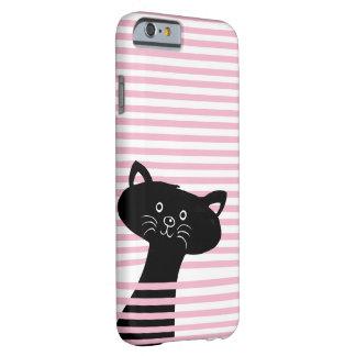 Peekaboo! Gulligt svart katttelefonfodral Barely There iPhone 6 Fodral