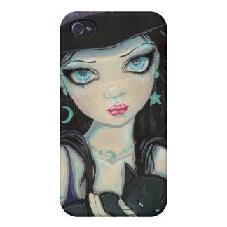 Peekaboohäxa- och kattiphone case iPhone 4 fodral