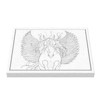 Pegasus fodrar konstdesign canvastryck