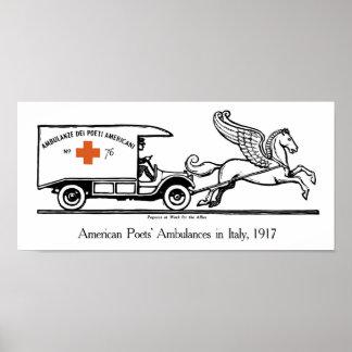 Pegasus på arbete för bundsförvanterna -- WWI Poster