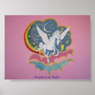 Pegasus på natten poster