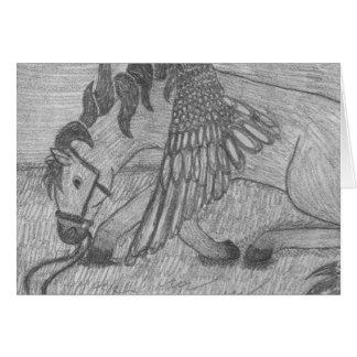 Pegasus påskyndade hästen som stråkföringen OBS kort
