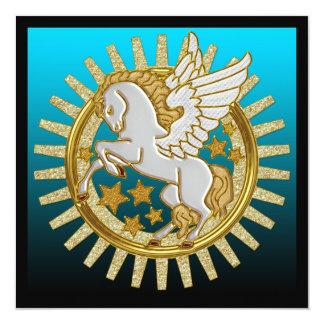 Pegasus påskyndade hästfödelsedagsfest inbjudan