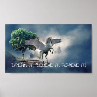 Pegasus prestationcitationstecken poster