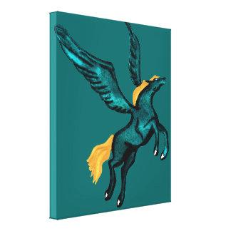 Pegasus (turkos) canvastryck