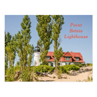 Peka den Betsie fyren på Lake Michigan Vykort