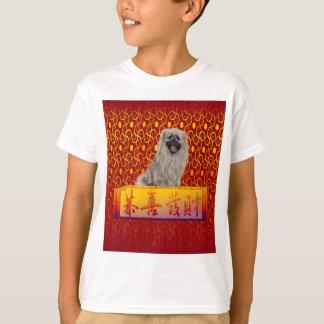 Pekingese hund på lyckligt kinesiskt nytt år tröja