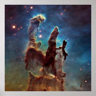 Pelare för HDR-örnNebula av skapelsen Poster