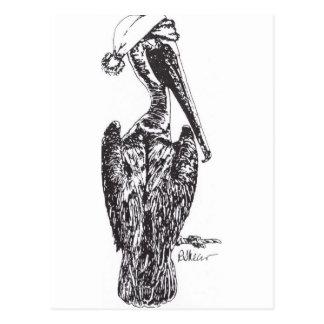 Pelikan med hatten vykort