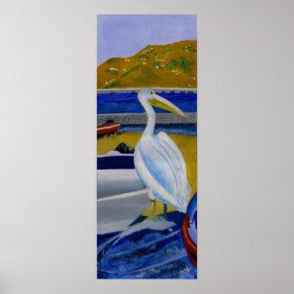 Pelikan och fartyg poster
