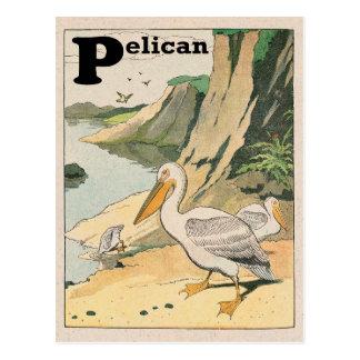 Pelikanalfabet Vykort