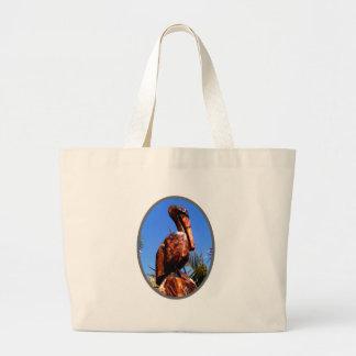 Pelikantränolla-silver de MUSEUMZazzle gåvorna Tote Bag