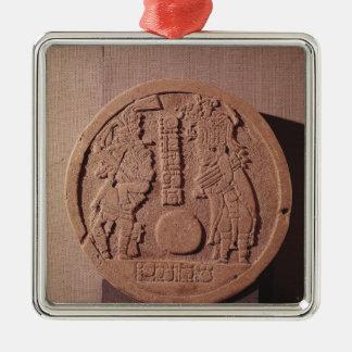 Pelote markör som visar två spelare julgransprydnad metall