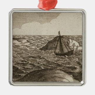 Pelsaert uppsättningar seglar   långt mellan öar, julgransprydnad metall