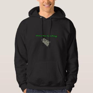 Pengar över allt sweatshirt med luva