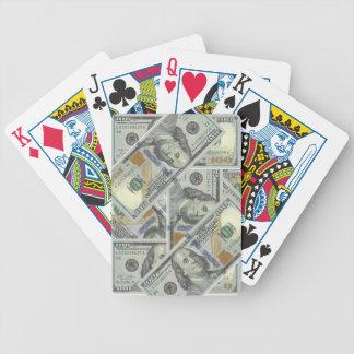 Pengar som leker kort spelkort