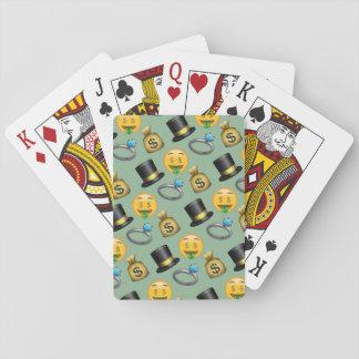 Pengar undertecknar det roliga (gröna) Emoji Casinokort