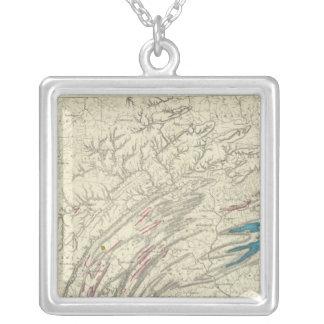 Penn järn, kol, olja, zinc silverpläterat halsband