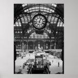 Penn stationNew York City vintage Circa 1900 Poster