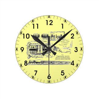 Pennsylvania begränsade väggen 1887 tar tid på rund klocka