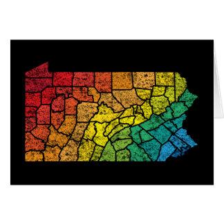 pennsylvania färglän hälsningskort