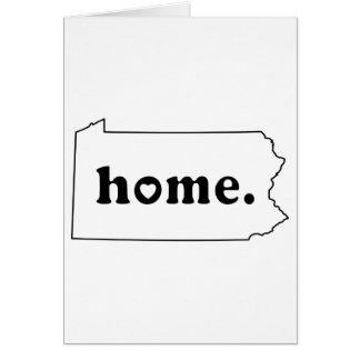 Pennsylvania hem hälsningskort