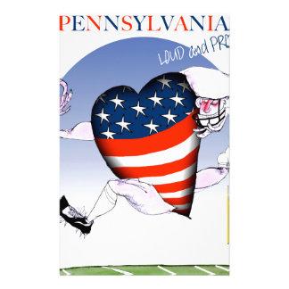 pennsylvania höga och stolt, tony fernandes brevpapper
