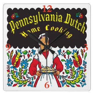 Pennsylvania holländare, husmanskost fyrkantig klocka