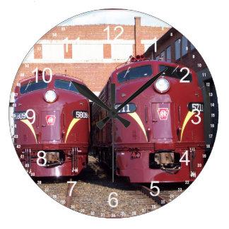 Pennsylvania järnväg E-8a, s (JTFS) 5809 och 5711 Stor Klocka