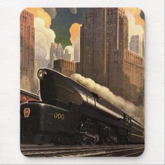 Pennsylvania järnvägaffisch musmattor