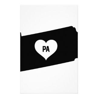 Pennsylvania kärlek brevpapper