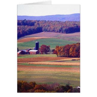 Pennsylvania lantgård i höst hälsningskort