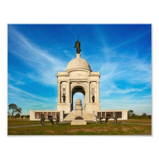 Pennsylvania minnesmärke - Gettysburg nationalpark Fototryck