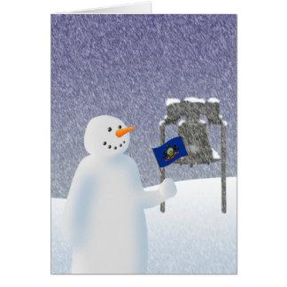 Pennsylvania snögubbe hälsningskort