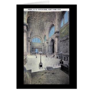 Pennsylvania station, New York City vintage 1913 Hälsningskort
