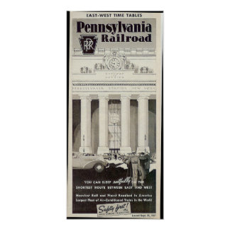 Pennsylvania station New York, schema 1941 Poster