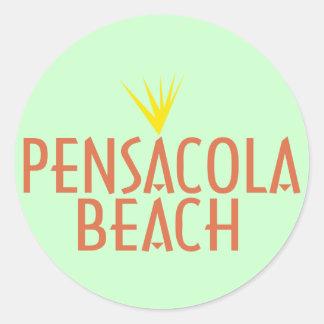 Pensacola strand runt klistermärke