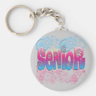 Pensionär - blommor 2 nyckelringar