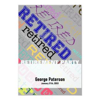 Pensionerad beställnings- pensionpartyinbjudan 1 8,9 x 12,7 cm inbjudningskort