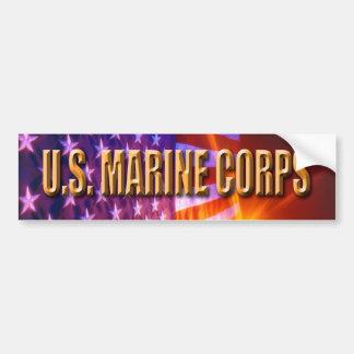 Pensionerad bildekal för USMC