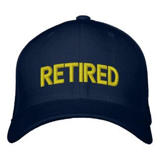 Pensionerad broderad hatt broderad keps